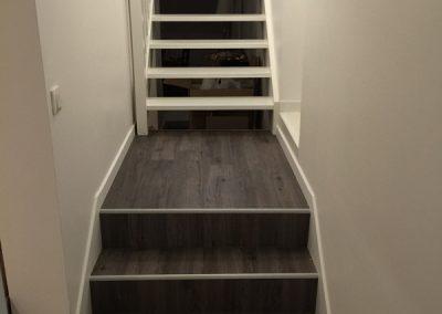 Création d'un escalier avec revêtement sol en Île-de-France