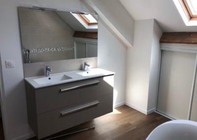 Entreprise rénovation salle de bain - exemple de réalisation - Atmosphere Travaux