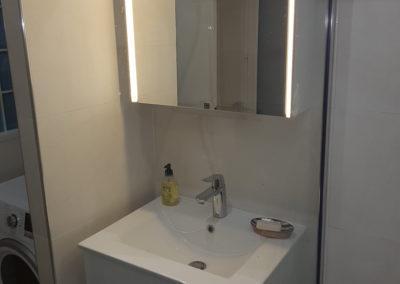 Réalisation petite salle de bain - Atmosphere Travaux