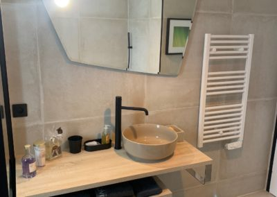 Rénovation Salle de bain - vasque tendance - Atmosphere Travaux