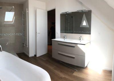Rénovation complète salle de bain - Atmosphere Travaux