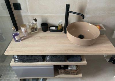 Salle de bain avec vasques design - Atmosphere Travaux
