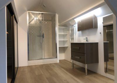 Salle de bain chambre ami - Atmosphere Travaux